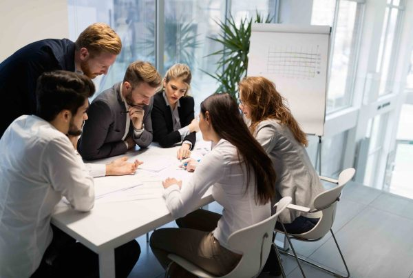 Group of business people working on business meeting